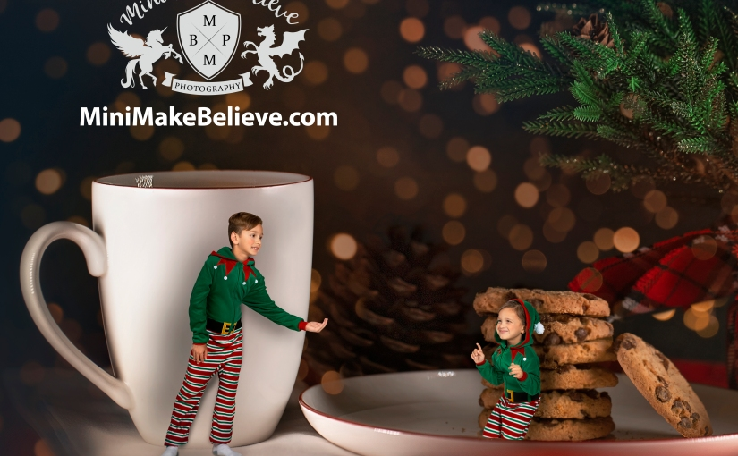 Sneaky Elves with Cookies and Milk!